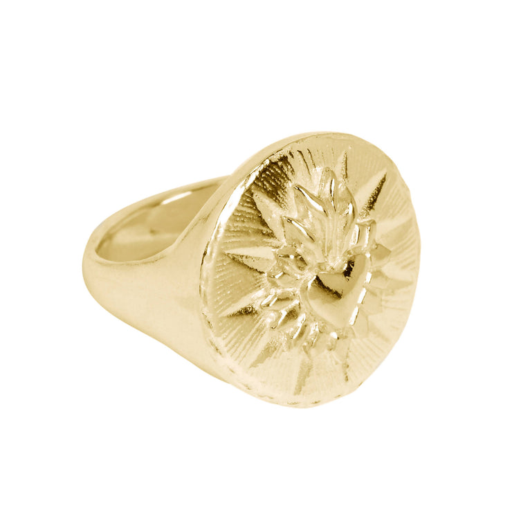 Corazon Signet Ring Brass