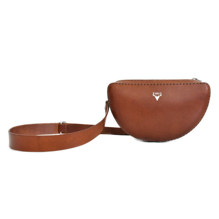 Half Circle Belt Bag | Cognac