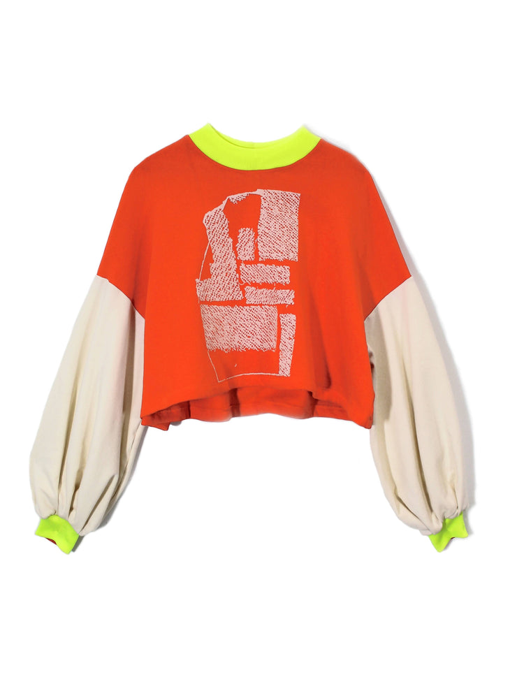Fluorescent Orange/Cream of the Crop Top