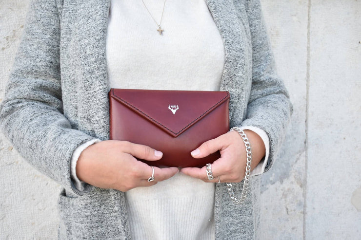 Envelope Clutch | Burgundy