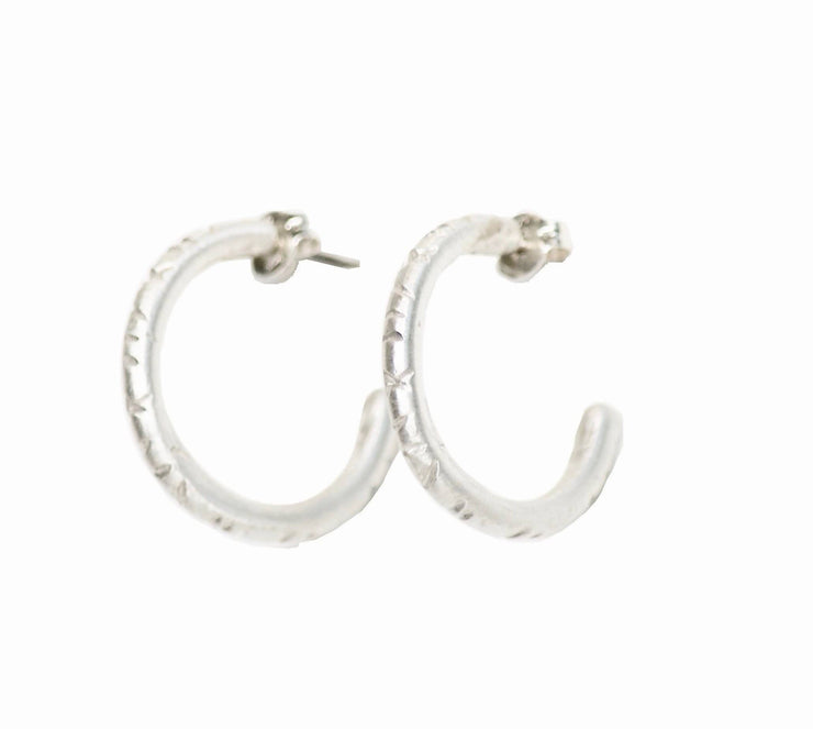 Sterling Silver Sunday Hoops