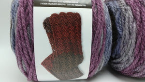 WINTERBERRY Caron TEA Cakes Yarn  - Big 8.5oz/240g - 204 yds/186m - 80/20 Acrylic/Wool - #6 Super Bulky