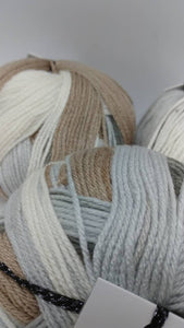 MARS Colorway of LUNA Anti-Pilling Yarn Ball by Premier Yarns - #3 Light 3.5oz/100g - 273 Yds/250m -Soft Self-Striping Anti-Pilling Grays
