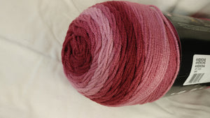 Red Heart Super Saver OMBRE Yarn - Colorway: Anemone - Big 10oz / 482 yards