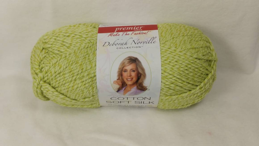LIME GREEN Solid Cotton Soft Silk from the Deborah Norville Collection - #4 Worsted  3oz ~ 154 yds