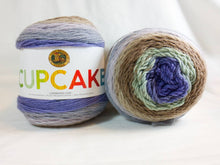 Load image into Gallery viewer, MINT CHIP - Cupcake Yarn by Lion Brand - #3 DK Light Worsted  - 5.3 oz / 590yd - Green, Brown, Lavender, Gray, Purple 935-221
