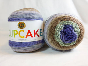MINT CHIP - Cupcake Yarn by Lion Brand - #3 DK Light Worsted  - 5.3 oz / 590yd - Green, Brown, Lavender, Gray, Purple 935-221