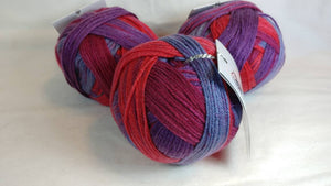 WILD BERRY Colorway of DK Joy Yarn Ball by Loops & Threads - #3 Light  3oz/85g - 232 Yds/212m - Anti-pilling Acrylic, Incredibly Soft!