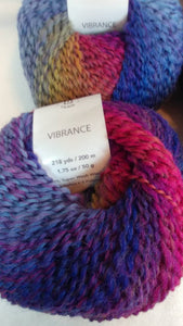 VERY BERRY SALSA Colorway of Universal Vibrance Ball- #1 Super Fine  1.75oz/50g - 218 Yds/200m - 73%/24/3 Super Wash Wool/Nylon/Poly