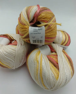 LUSTER Colorway of Rozetti Lumen Multi Yarn Ball - #3 Light  1.75oz/50g - 134 Yds/123m - Cotton/Rayon - So Shimmery!