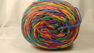 RAINBOW Variegated Cotton BIG 12 oz ~ 595 yards Skein Yarn by Premier Home - Worsted #4