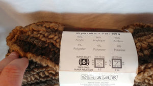 TAN FADE Big BERBER Yarn by Premier Yarn - Super Bulky #6 - 65 yds / 7 oz - Acrylic/Polyester