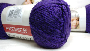 VIOLET HEATHER Premier Everyday Yarn Collection - Heather Yarn - #4 Worsted - 180 yds / 3.5 oz - 100% Anti-Pilling Acrylic