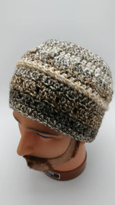 HAZELNUT COFFEE BEANie Hat Designed for Men but is also Unisex - 100% Soft Acrylic to keep your head warm - Machine Washable