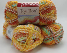 Load image into Gallery viewer, LINCOLN LOGS Toy Box Yarn - Premier Yarns - 3.5 oz / 109 yards  - Bulky #5 2-Ply Acrylic - Great for Making Baby Blankets FAST!