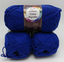 Load image into Gallery viewer, NAVY Blue 24/7 Cotton Yarn by Lion Brand - #4 Worsted Weight - 100% Mercerized Cotton - 186yds / 3.5oz