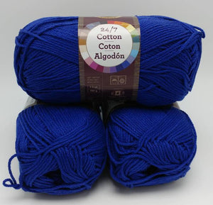 NAVY Blue 24/7 Cotton Yarn by Lion Brand - #4 Worsted Weight - 100% Mercerized Cotton - 186yds / 3.5oz