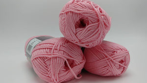 PINK 24/7 Cotton Yarn by Lion Brand - #4 Worsted Weight - 100% Mercerized Cotton - 186yds / 3.5oz