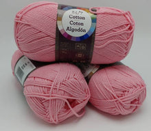 Load image into Gallery viewer, PINK 24/7 Cotton Yarn by Lion Brand - #4 Worsted Weight - 100% Mercerized Cotton - 186yds / 3.5oz