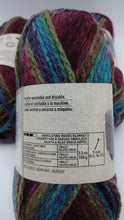 Load image into Gallery viewer, MULBERRY BUSH Colorway in Charisma Yarn by Loops & Threads - Bulky #5 - 109 yds / 3.5 oz - Acrylic - Jewel tones of Purples Blues and Greens
