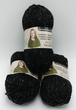 Load image into Gallery viewer, BLACK Colorway in Charisma Heather Yarn by Loops & Threads - Bulky #5 - 93 yds / 3 oz -Acrylic - Mix of Black and Dark Gray