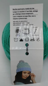 SPEARMINT Green Colorway of DK Joy Yarn Ball by Loops & Threads- #3 Light  3.5oz/100g - 273 Yds/250m - Anti-pilling Acrylic, Super Soft!