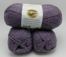 Load image into Gallery viewer, PURPLE ASTER Touch of Alpaca Yarn by Lion Brand - #4 Worsted Weight - 90 Acrylic/10% Alpaca - 207yds / 3.5oz Soft and Silky Touch