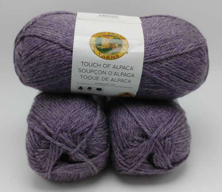 PURPLE ASTER Touch of Alpaca Yarn by Lion Brand - #4 Worsted Weight - 90 Acrylic/10% Alpaca - 207yds / 3.5oz Soft and Silky Touch