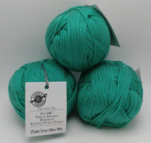 Load image into Gallery viewer, SPEARMINT Green Colorway of DK Joy Yarn Ball by Loops & Threads- #3 Light  3.5oz/100g - 273 Yds/250m - Anti-pilling Acrylic, Super Soft!