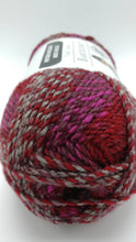 Load image into Gallery viewer, HEARTBEAT Red and Gray BARCELONA Yarn by Loops & Threads - Bulky #5 - 328 yds / 7 oz - Acrylic