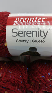 CLARET Red Serenity Chunky Tweed by Premier Yarns - #5 Bulky - 3.5oz/100g  109yds/100m - 97/3% Acrylic / Viscose - Makes Great Sweaters