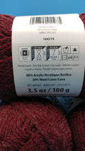 Load image into Gallery viewer, BURGUNDY Wool-Up Worsted Canadian Heritage Collection Bernat Yarn - 3.5oz/100g - 238yds/218m #4 Medium - 80/20 Acrylic/Wool Great for Cowls