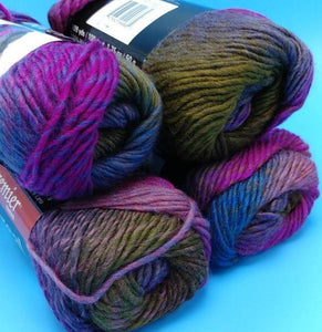GROUSE Boreal Wool Roving Yarn by Premier Yarns - #4 Worsted  - 1.75oz / 109yds - 100% Wool - Self Striping - Great for Felting