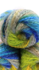 BLUEGRASS Mega Brushed Chunky Yarn by Premier Yarns - #5 Bulky weight - 3.5oz/100g  109yds/100m - Acrylic - Thick Blues Greens Yellow Gray