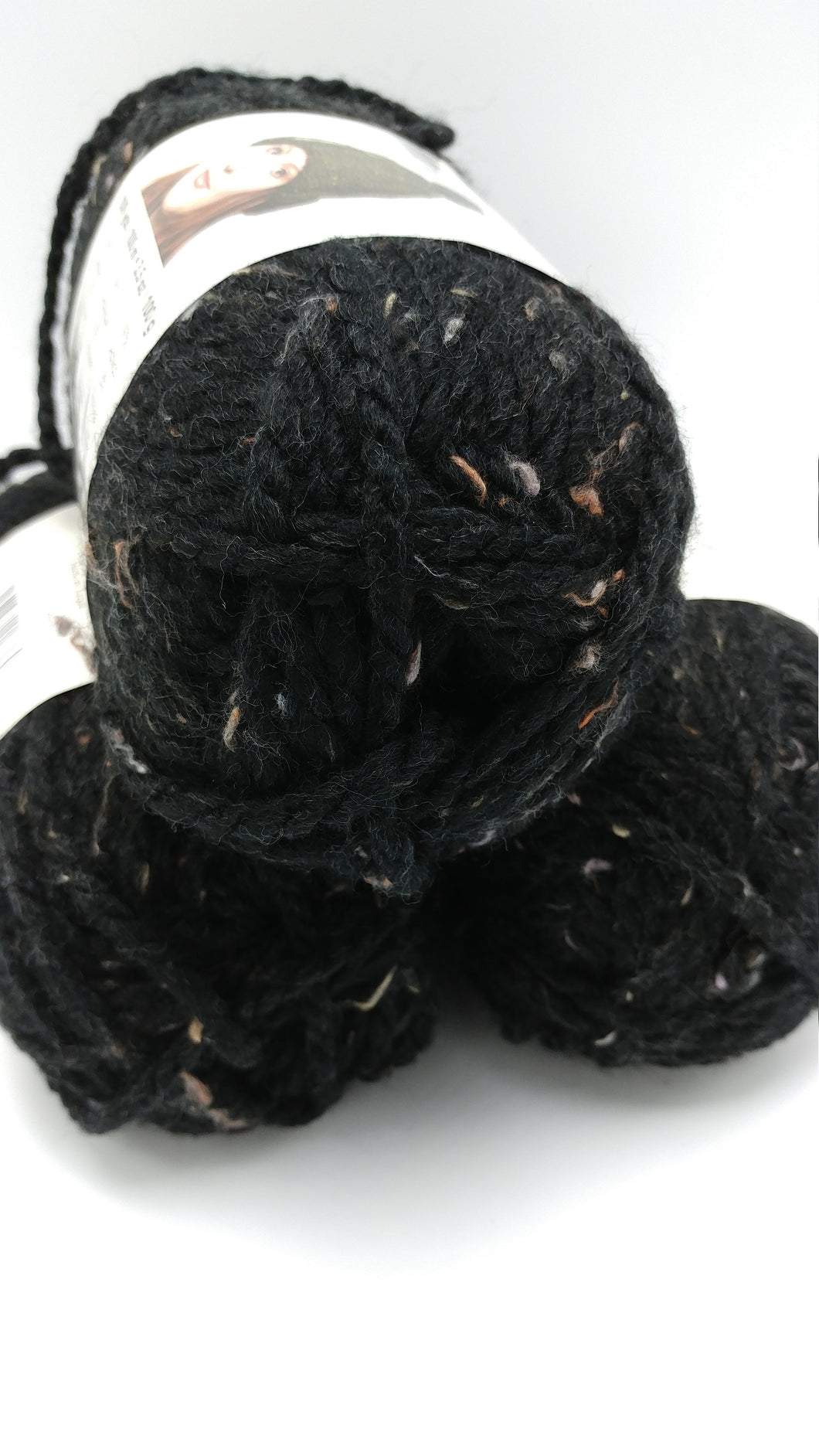 CARBON Black Serenity Chunky Tweed by Premier Yarns - #5 Bulky - 3.5oz/100g  109yds/100m - 97/3% Acrylic / Viscose - Makes Great Sweaters
