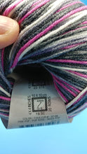 Load image into Gallery viewer, PINK POP Cotton Fair by Premier Yarns #2 Fine Weight - 3.5oz/100g  317yds/290m - Soft Cotton Acrylic Blend Bright Pink, Gray Black White