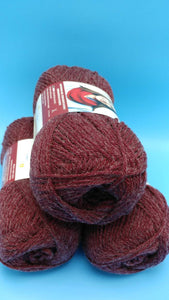 BURGUNDY Wool-Up Worsted Canadian Heritage Collection Bernat Yarn - 3.5oz/100g - 238yds/218m #4 Medium - 80/20 Acrylic/Wool Great for Cowls
