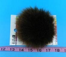 Load image into Gallery viewer, BEAR Brown Faux Fur Pom Poms by Premier Yarns - Acrylic/Polyester - Large ~ Adds a Finishing Touch to your Hat, Scarf Ends, or Blanket!