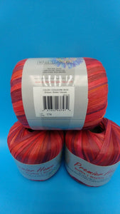 EMBERS RAFFIA Yarn by Premier Home - #4 Worsted - Solid Color 1.23oz - 87 Yards Great for Bag Making (Reds 99-03)