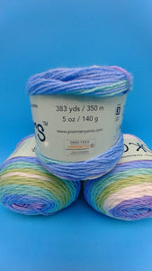 COOL BREEZE Colorway DK Colors Anti-pilling by Premier Yarns - #3 Light  5oz/140g -383 Yds/350m - Purple Blue Teal Green White Super Soft-