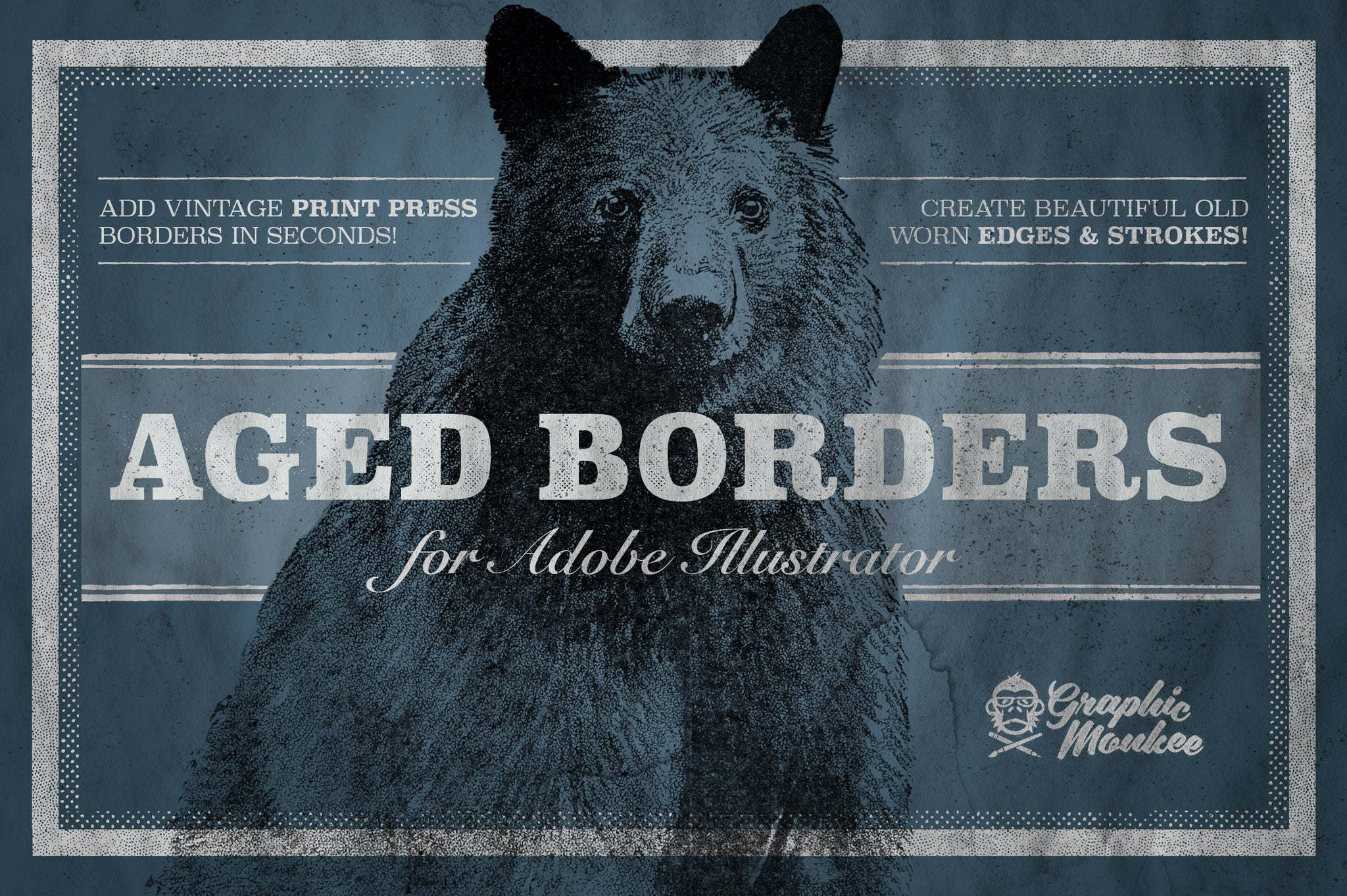 Aged Borders for Adobe Illustrator – Trailhead Design Co