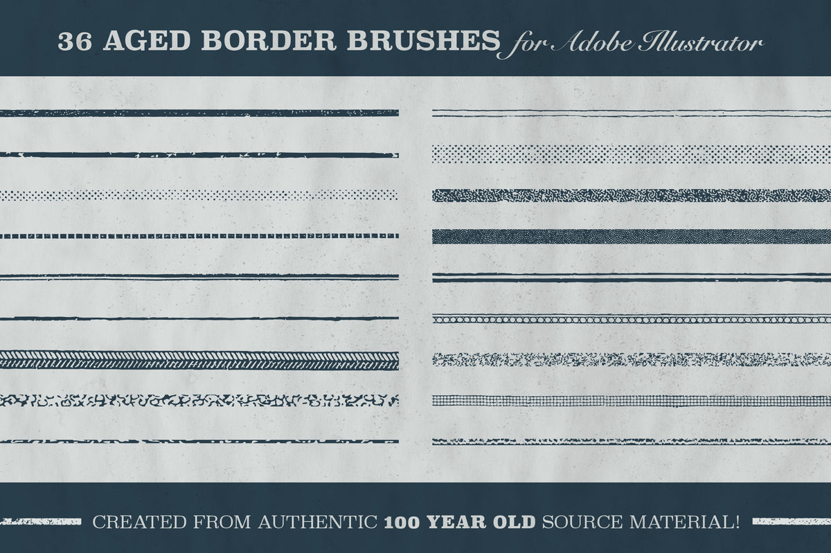 Aged Borders for Adobe Illustrator