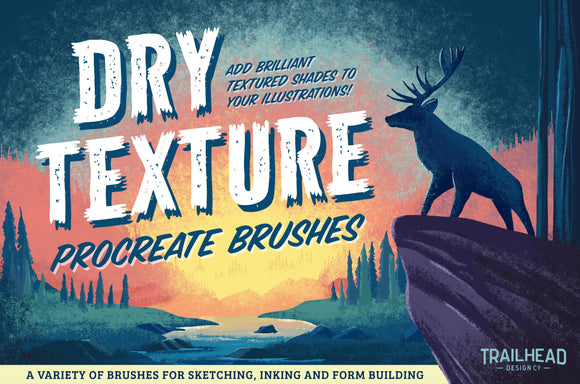 Dry Texture Brushes for Procreate