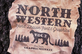 North Western Font + Vectors Vol 2
