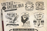 Vintage Americana Badges and Logos