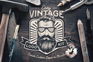 Easy Vintage Logo Creation Kit