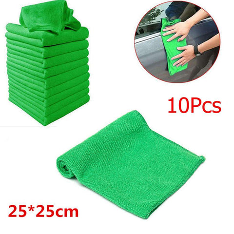 5/10x Microfiber Car Wash Towel Soft Cleaning Auto Car Care Detailing Cloths Wash Towel Duster 9.84'' X 9.84''Inch
