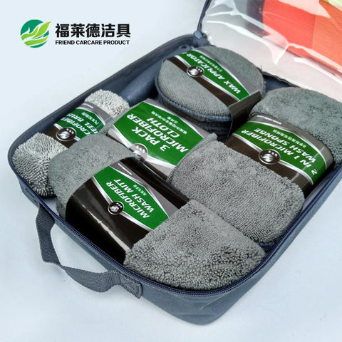 Car Care Car Cleaning Kit 9 Pieces Car Appearance Interior Cleaning Wheel Cleaning Kit Kitchen Furniture Office Cleaning Tool