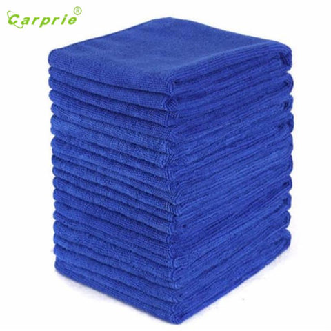 Dropship Hot Selling 10PCS Blue Absorbent Microfiber Towel Car Wash Clean Sponge Brush Glass Cleaner Wave Gift May 23