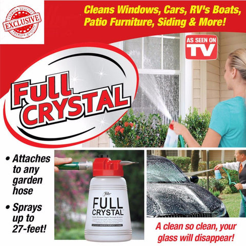 Full Crystal Outdoor Glass Cleaner Home Garden Handheld Spray Mighty Fuller Cleaning Tool Brush With Optional Powder Refill